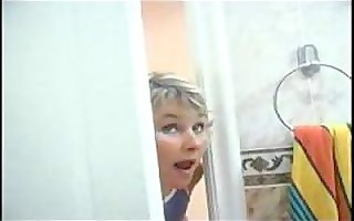 mamma spying on son will he was in shower than