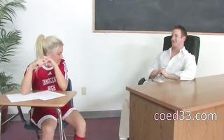 blondie student drilled by her teacher