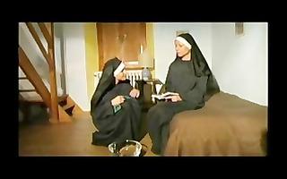 lesbo nuns pray to cum