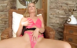 lesbo sweethearts play with blindfold and a fake