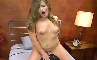 honey rides sybian and fucks machine with giant