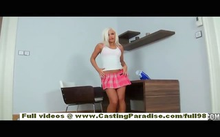lola independent european blonde playgirl with