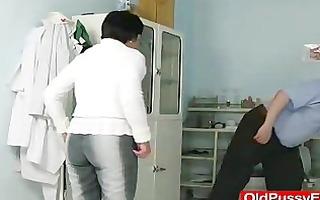 unshaven housewife eva visits gyno doc fuck
