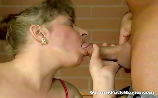 granny screwed in her face hole