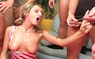 cummed on and pissed on