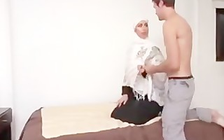 white hijab muslima ruined for tiny muslim penis