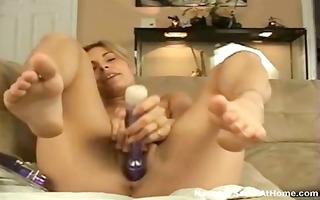 hawt blond hottie sets up her webcam and