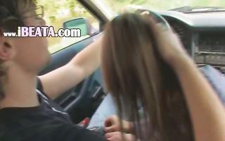18yo russian princess fucked on the car