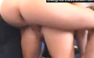 youthful daughter abased