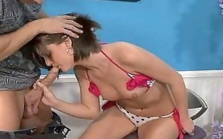 babe gags during the time that swallowing cum