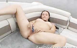 operatic squirter in masturbates public and more
