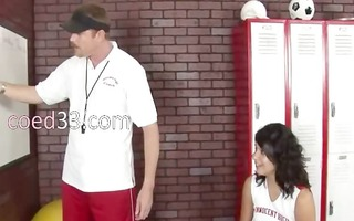 21yo cheerleader fucks with her coach