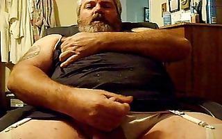 sissy in lingerie jacking (again)